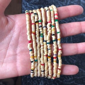 2 Vintage 70's beads layering necklaces